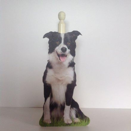 Border Collie Spare Toilet Roll Holder